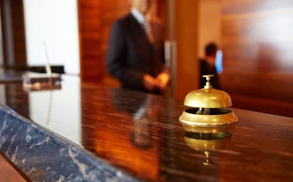a bell on a concierge desk