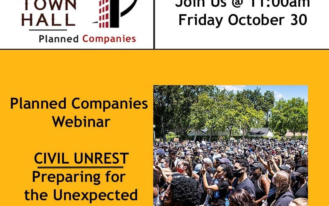 a flyer for Planned's webinar