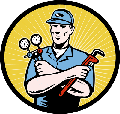 icon of a building maintenance worker holding a pipewrench